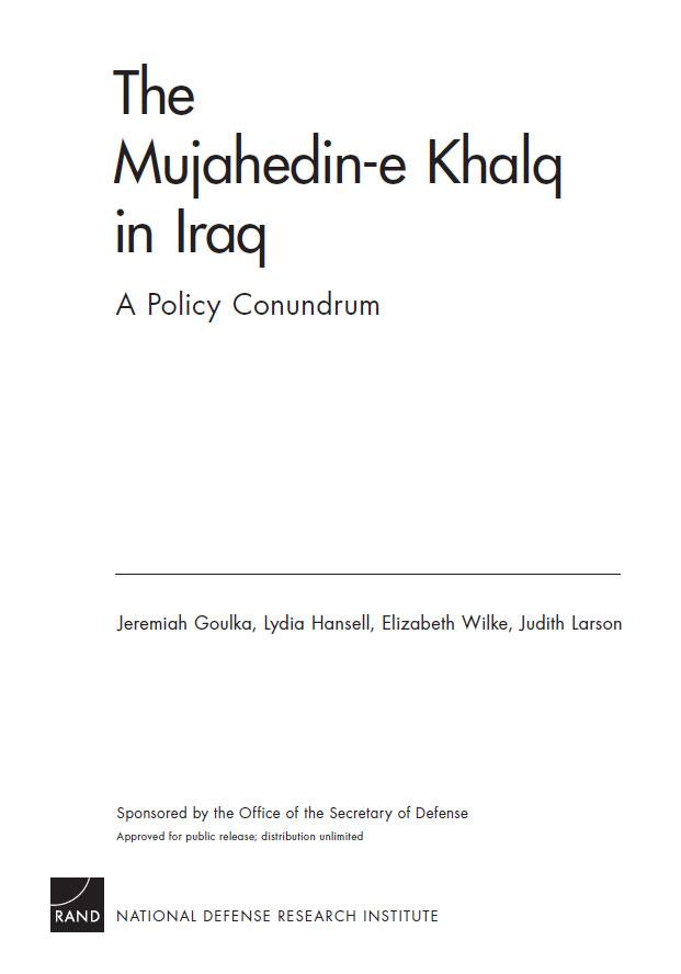 Organizata Muxhahedine Halk në Irak; Një politikë rebus