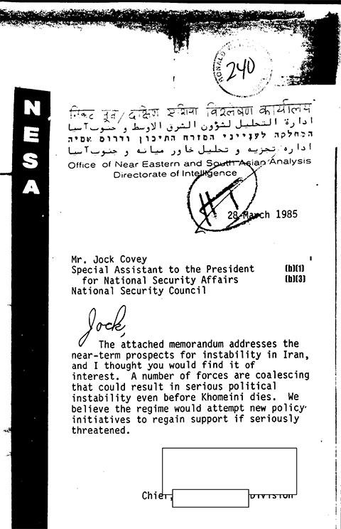 MEK në memorandumin e CIAs 1985