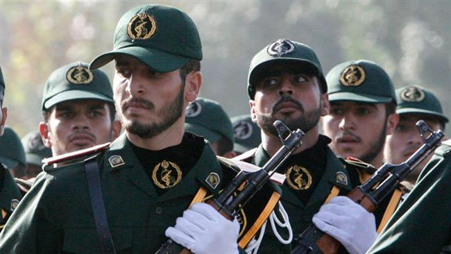 Members of Iran's Islamic Revolution Guards Corps (IRGC) are seen during a parade in Tehran. (File photo)